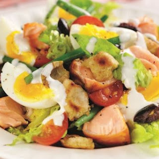 Protein Packed Salmon, Egg, And Olive Salad