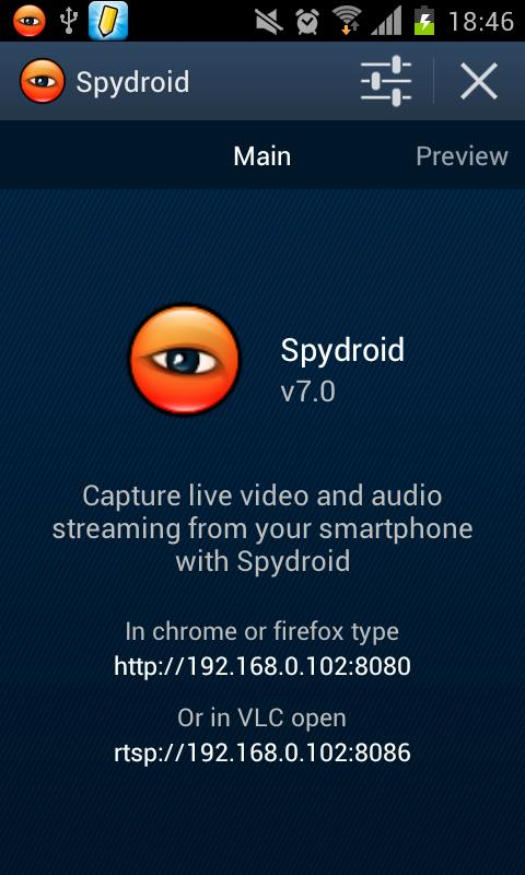 spydroid-ipcamera - screenshot