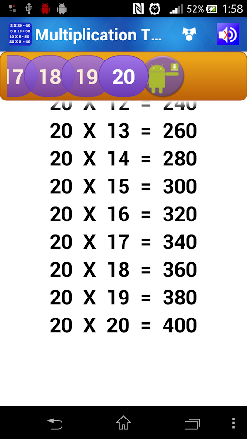 Multiplication Tables for Kids - Android Apps on Google Play