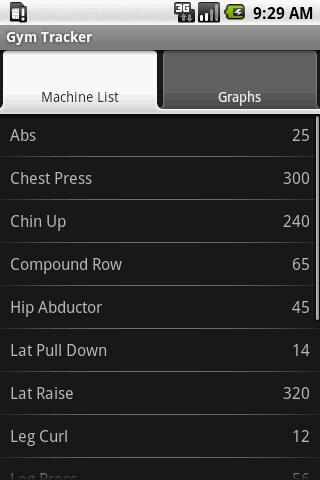 Gym Tracker- screenshot