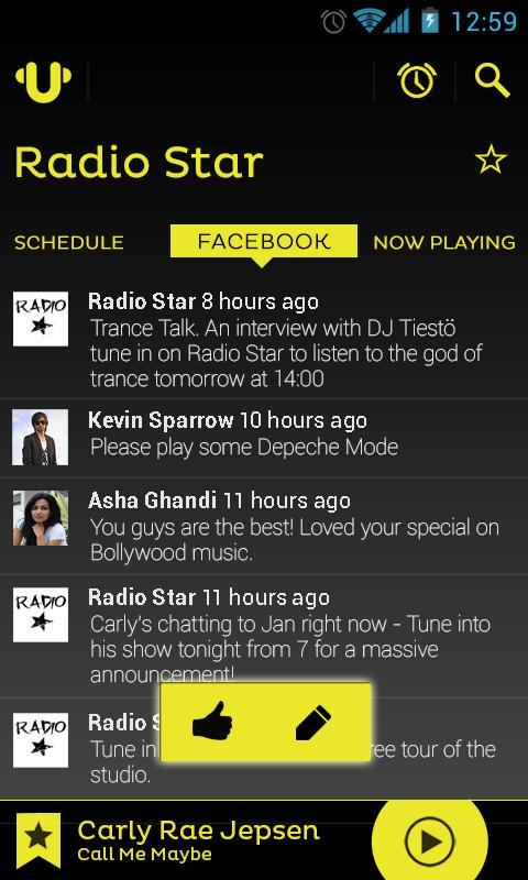UTuneMe - Internet Radio App - screenshot