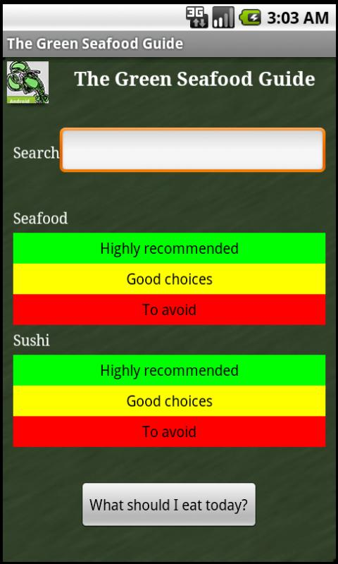 The Green Seafood Guide- screenshot