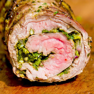 Chimichurri-Stuffed Flank Steak