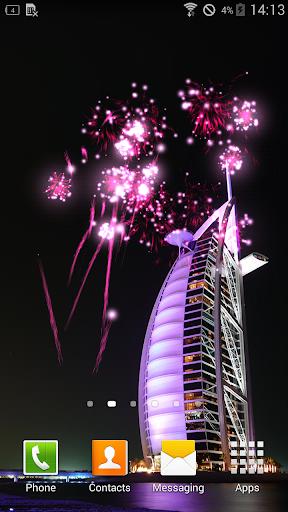Dubai Fireworks Live Wallpaper