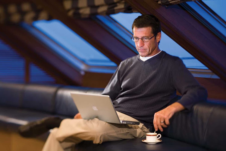 Nothing wrong with sending loved ones an email, or keeping abreast of the news, during your Silversea sailing.