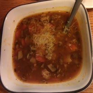 Portobello Mushroom Lentil Soup.
