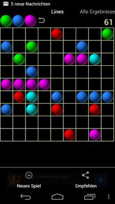 Lines game - screenshot