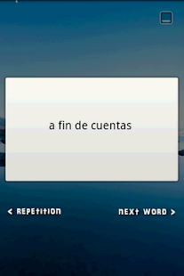 Flash Card Widget Idioms ES-EN - screenshot thumbnail