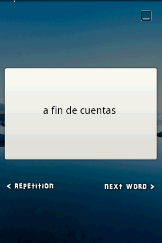 Flash Card Widget Idioms ES-EN - screenshot