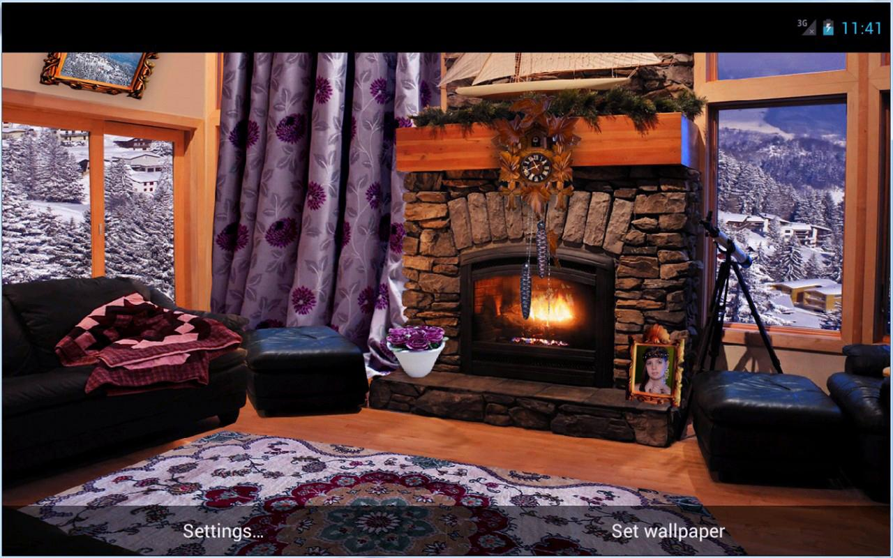 Romantic Fireplace LWP - screenshot
