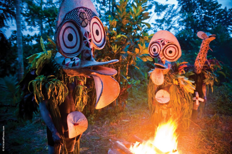 Spend an evening with traditional dancers in East New Britain Province, Papua New Guinea, when you sail with Silver Discoverer.