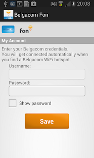 Belgacom Fon Wi-Fi Access - screenshot thumbnail