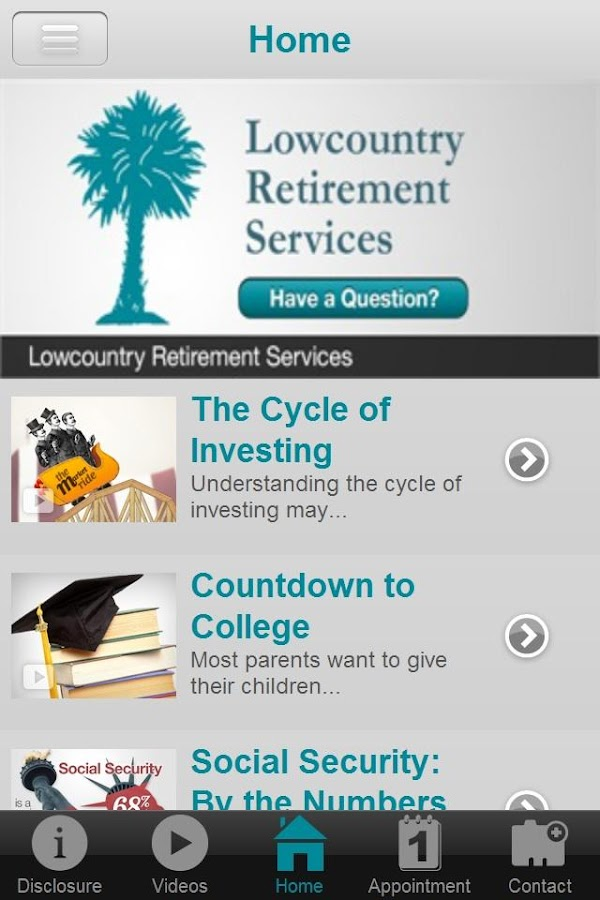 Lowcountry Retirement Services- screenshot