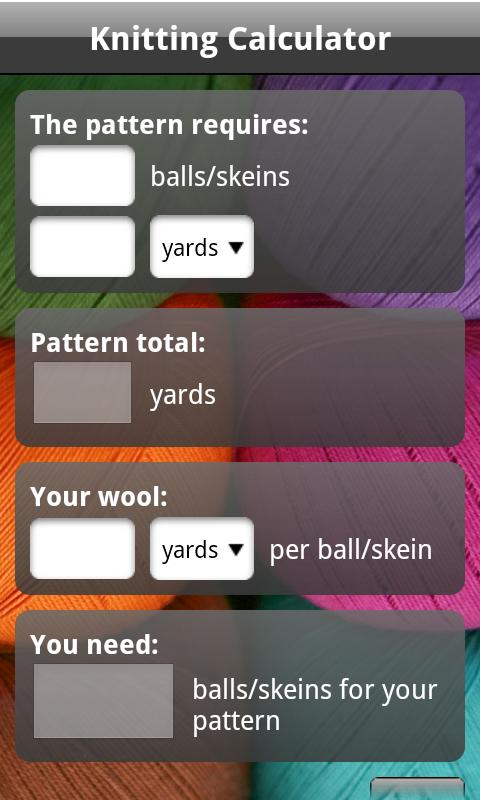 Knitting Calculator : Knitting Calculator - Android Apps on Google Play
