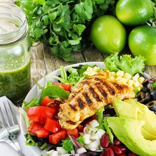 Healthy Taco Salad with Cilantro Lime Vinaigrette.