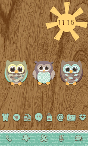 Go Launcher Themes: Hoot screenshot 1