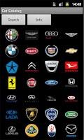 Screenshot of Car Catalog