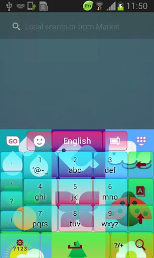 無料个人化Appのカラフルな自然のGOキーボード|HotApp4Game