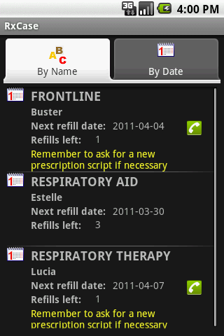 RxCase Minder®- screenshot