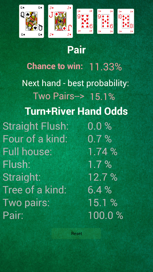 Odds of a straight flush in texas holdem