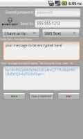 Screenshot of Encrypted Messages