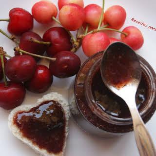 Cherry Jam with Almond Flavor.