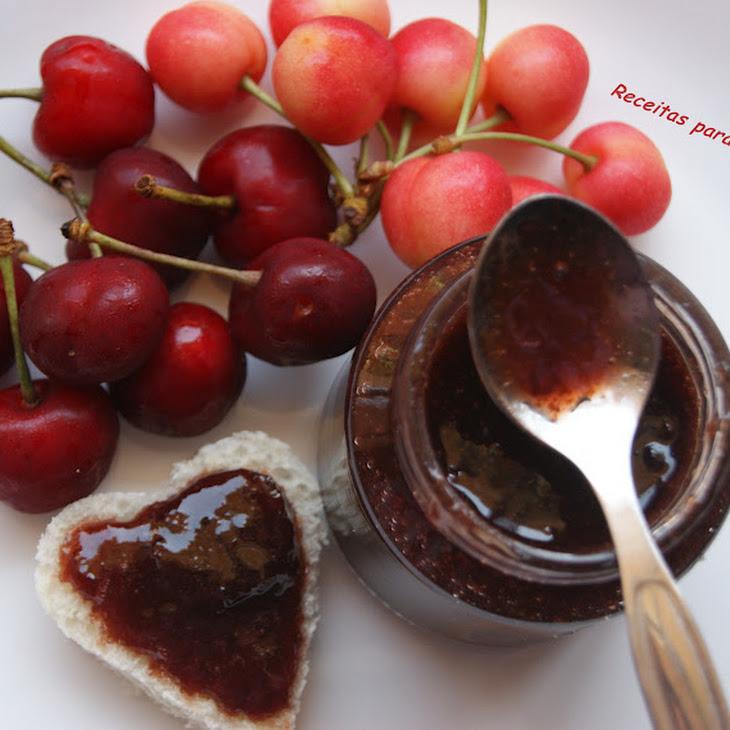 Cherry Jam with Almond Flavor