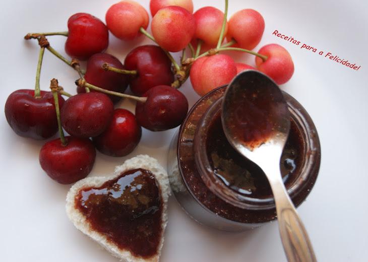 Cherry Jam with Almond Flavor Recipe
