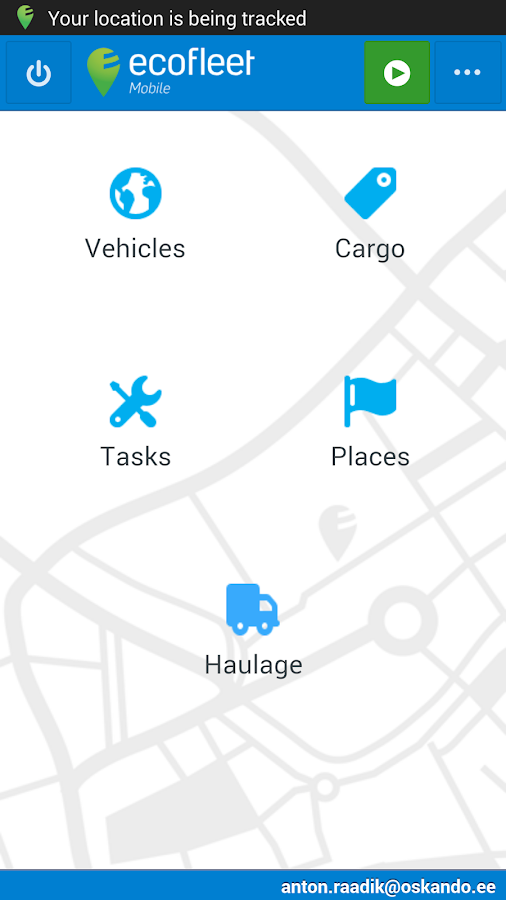 Ecofleet Mobile – screenshot