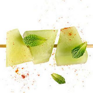 Honeydew with Sweet-Heat Lime Sauce.