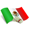 The dollar in mexico icon