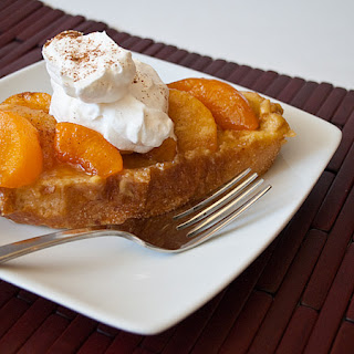 Overnight Peaches and Cream French Toast