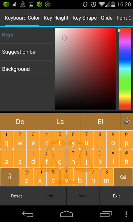 Adaptxt Legal Keyboard - screenshot