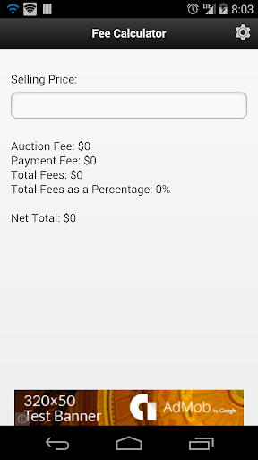 Online Auction Fee Calculator