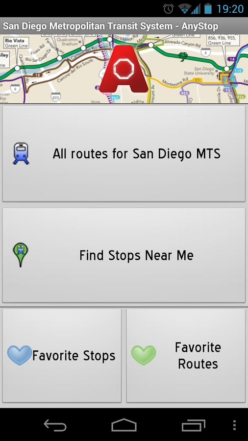 San Diego MTS: AnyStop - screenshot