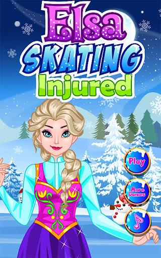 Beauty Girl Skating Injured