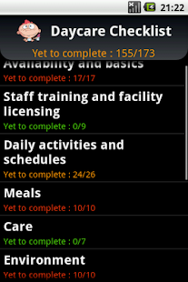 Daycare checklist - screenshot thumbnail