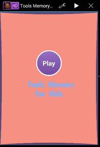 Tools Memory Game For Kids