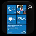 GO SMS Pro WP8  blue theme!