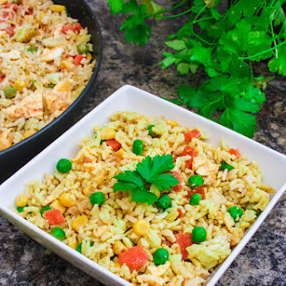 Yellow Thai Curry Coconut Fried Rice.