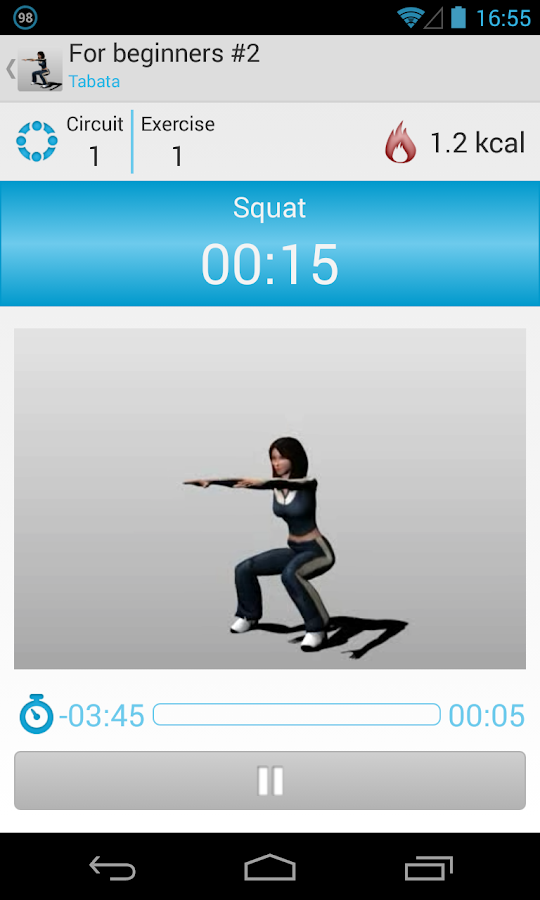 Circuit Training Assistant - screenshot