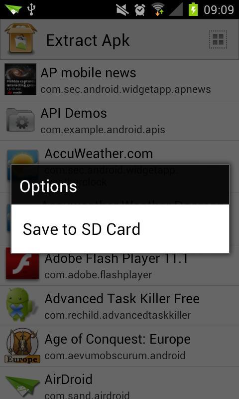 Extract Apks- screenshot