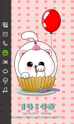 玩個人化App|Cupcake Locker Master Theme免費|APP試玩