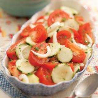 Summer Tomato, Onion & Cucumber Salad.