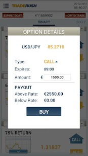 TRADERUSH Binary Options - screenshot thumbnail