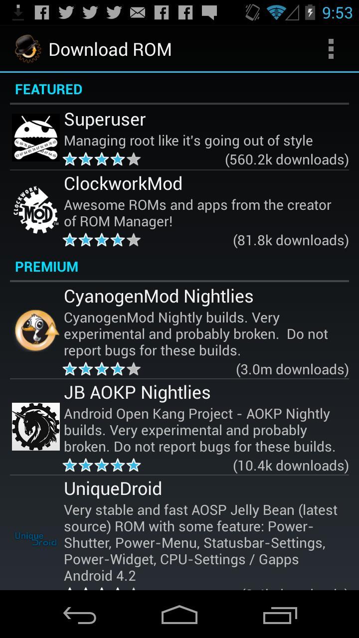 ROM Manager (Premium) screenshot #2