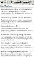 Screenshot of WaarMaarRaar.nl