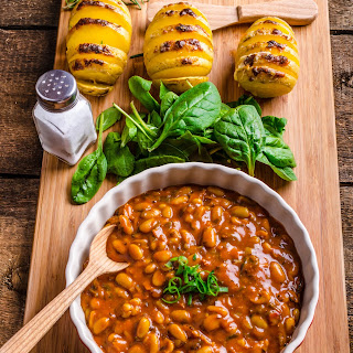 Spicy Cowboy Baked Beans & Potatoes