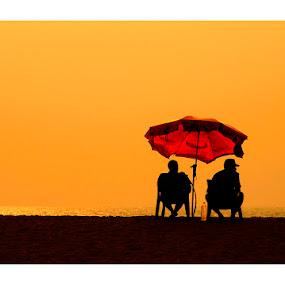DUSK by Madhu Payyan Vellatinkara - People Street & Candids ( sun set, beach, nikon, dusk )