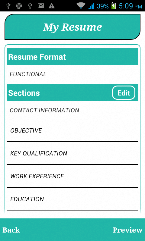 smart resume builder cv free android apps on play